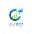 business finance chart progress logo vector image vector image