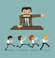 Business man go to work vector image vector image