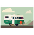 Camping trailer vector image vector image