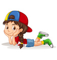 Canadian girl relaxing alone vector image vector image