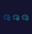 car service repair line icons vector image