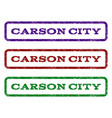 carson city watermark stamp vector image vector image