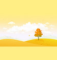 cartoon yellow autumn vector image vector image
