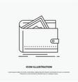 cash finance money personal purse icon line gray vector image vector image