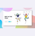 childhood fun and motion website landing page vector image