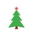 christmas tree icon vector image vector image