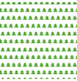 Christmas tree seamless pattern on white vector image vector image