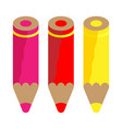 color pencils warm colors vector image vector image