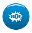 comic boom big icon blue vector image vector image