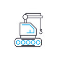 crawler crane thin line stroke icon vector image vector image