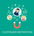 customer retention flat vector image
