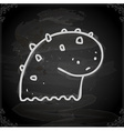 Cute Monster Drawing on Chalk Board vector image vector image