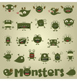 doodle monster vector image vector image