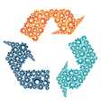 Environment machine collaboration concept vector image