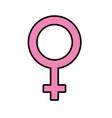 femele gender symbol to special event vector image