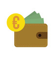 flat design euro currency vector image vector image