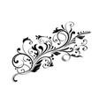 floral decorative ornament flower branch vector image