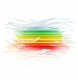 Grunge rainbow brush stroke with stripes on white vector image vector image