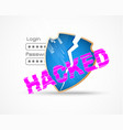 hacker attack data security theme vector image vector image