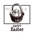 Happy Easter Drawn vector image vector image