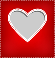 Heart cutout in red card on grey vector image vector image
