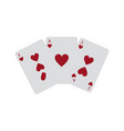 hearts suit french playing cards icon image vector image