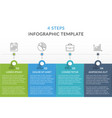 infographic template with 4 steps vector image vector image