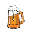 isolated beer mug vector image vector image