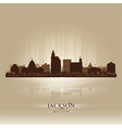 Jackson Mississipi skyline city silhouette vector image vector image
