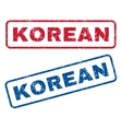 Korean Rubber Stamps vector image vector image
