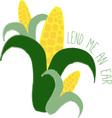 Lend An Ear vector image