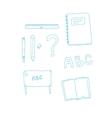 Line art school elements vector image