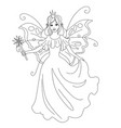 magic fairy princess isolated coloring vector image