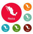 mexico map in black simple vector image vector image
