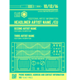 minimal design night party flyer template with vector image vector image
