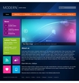 Modern website design template vector image vector image