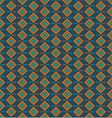 Pattern with squares on a dark blue background vector image