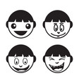 people face emotion icon design vector image