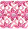 pink protea boho seamless pattern vector image vector image
