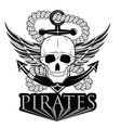 pirate themed design elements pirate symbol vector image vector image