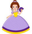 princess violet vector image vector image