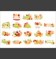 rosh hashanah bright postcard labels set of vector image