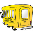school bus eps 10 vector image vector image