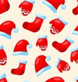 Seamless Christmas pattern part Santa costume vector image vector image