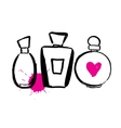 Set of bottles perfume vector image vector image