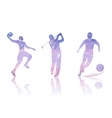 Set Shapes Golfers Football and Basketball vector image vector image