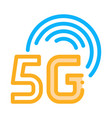 smart city 5g internet icon outline vector image vector image