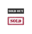 sold sold out rubber stamp image vector image vector image