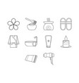 spa and beauty icon set vector image vector image