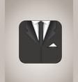 suit icon vector image
